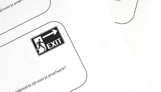 Lesidee: werken met een exitticket