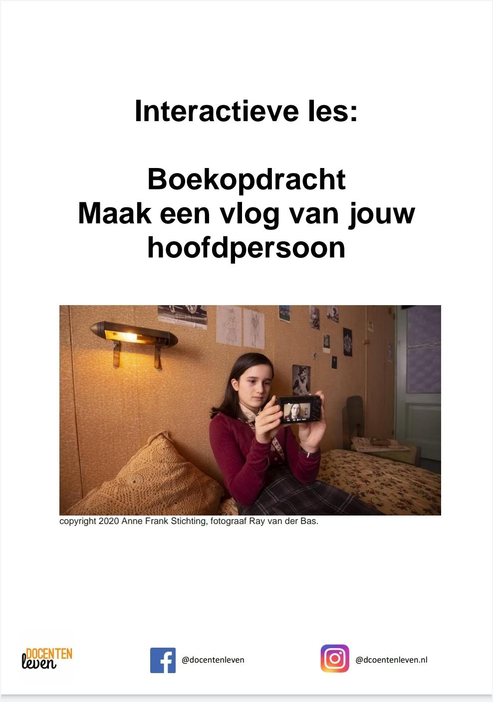 Lesmateriaal: maak een vlog van je hoofdpersoon