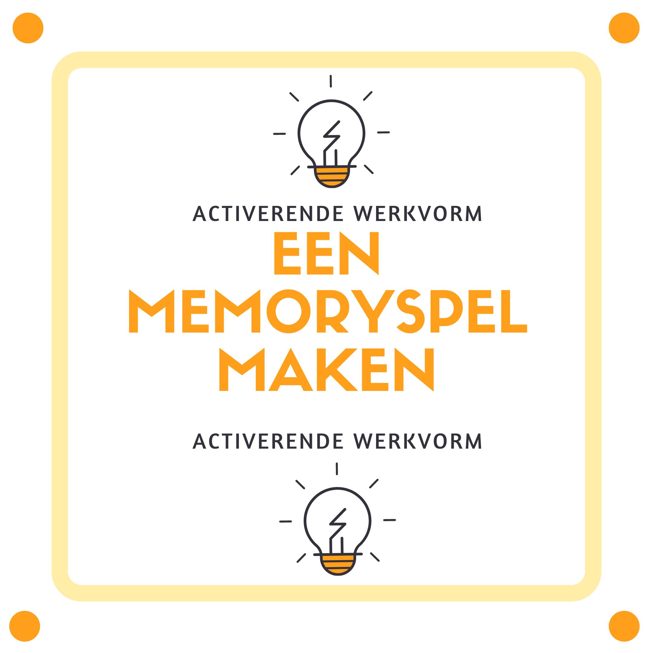 Activerende werkvorm: een memoryspel maken