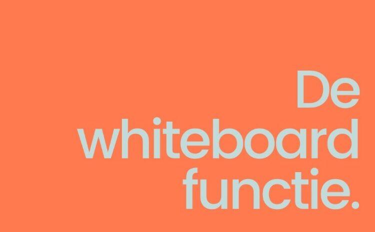 Whiteboard in online lessen